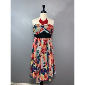 The Limited | Strapless Watercolor A Line Dress 10